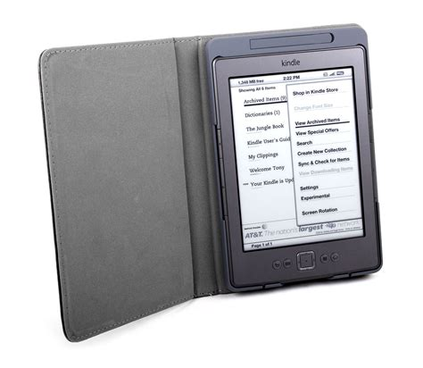 Kindle With Light by Kindle 4 Ereader Protective Pu Leather Book Style