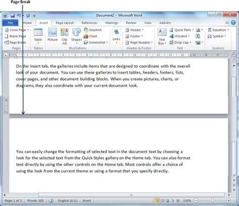 insert page breaks in word 2010