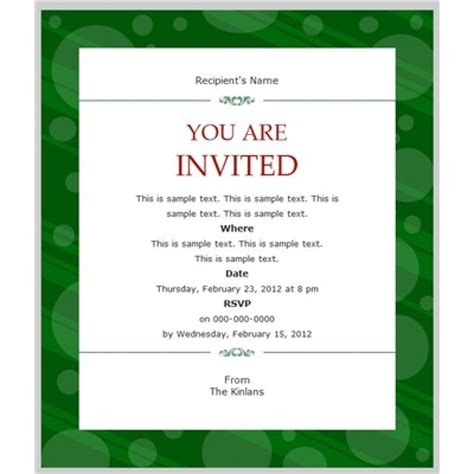 business invitation templates  special event format