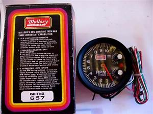 Buy Nos Mallory 11k Rpm Large Diameter Tachometer Built In