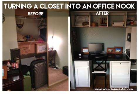 Turning A Closet Into An Office by Renaissance July 2015