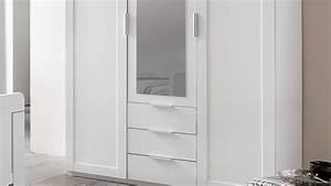 Schrank Für Schlafzimmer : kleiderschrank nadja schrank f r schlafzimmer wei mit spiegel 135 cm ~ Eleganceandgraceweddings.com Haus und Dekorationen