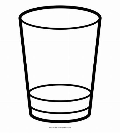 Glass Clipart Shot Coloring Drink Whiskey Icon
