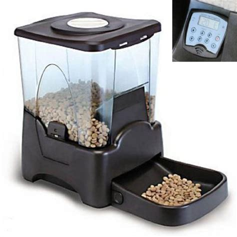 automatic pet feeder new automatic pet cat feeder 4 meal timer schedule ebay