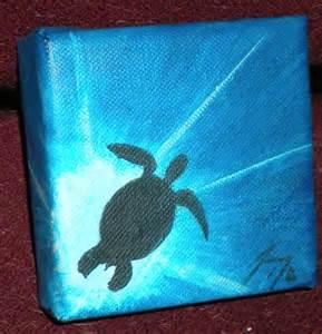 Sea Turtle Canvas Painting Ideas