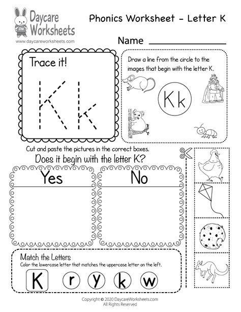 beginning sounds letter  phonics worksheet  preschool