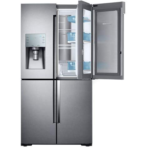 samsung counter depth door refrigerator samsung 22 1 cu ft 4 door flex food showcase door
