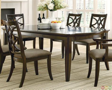 meredith contemporary  piece dining room table  chairs