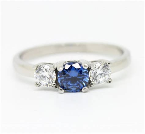 1ct genuine london blue topaz and white sapphire trilogy
