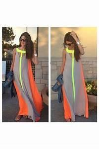 1000 ideas about Neon Maxi Dresses on Pinterest
