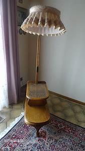 Stehlampe Mit Tisch : stehlampe leselampe nostalgie lampe mit tisch holz glastisch alt bitte lesen ~ Indierocktalk.com Haus und Dekorationen