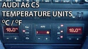 How To Change Units Between Celsius    Fahrenheit In Audi