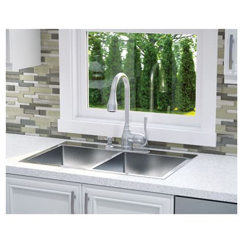 professional stainless steel double kitchen sink rona