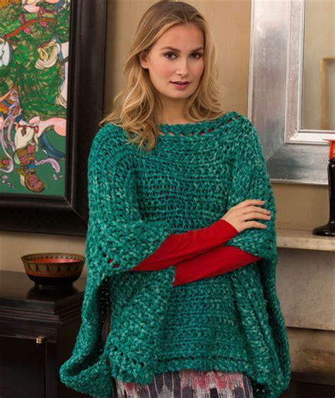 knitted poncho shimmering jade knit poncho allfreeknitting
