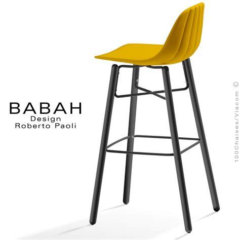 chaises de bar design tabouret de bar design babah wood 80 pieds bois peint