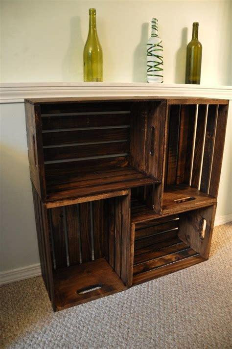 great diy bookcases crate bookcase crate bookshelf