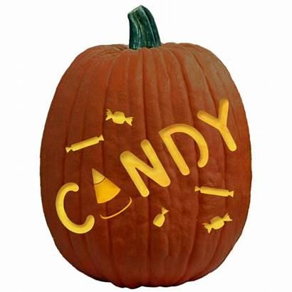 Pumpkin Candy Carving Stencil Stencils Halloween Pattern