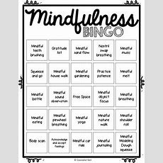 Mindfulness Bingo Game And Task Cards For School Counseling By Counselor Keri