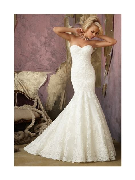 Mori Lee 1862 Mermaid Style Bridal Gown Ivory Lace