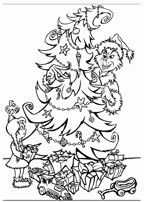 coloring pages grinch stole christmas coloring home