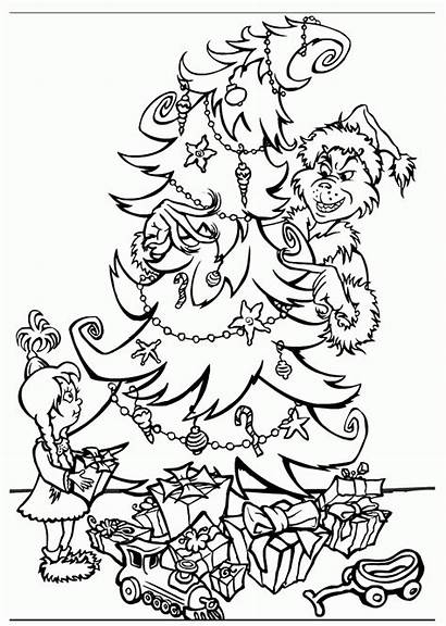 Coloring Grinch Christmas Pages Stole Popular