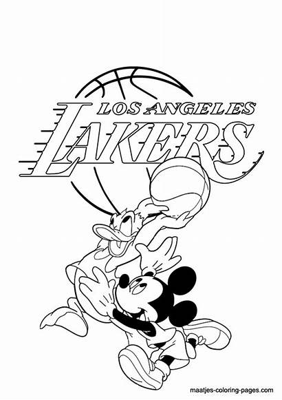 Coloring Lakers Pages Angeles Los Nba Dodgers
