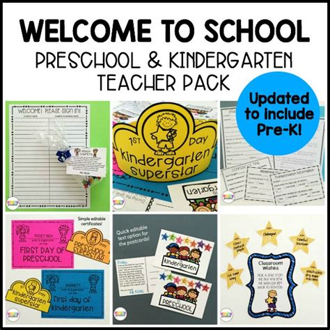 editable welcome to school pack for preschool pre k 900   welcome back school preschool kindergarten printable pack 1a