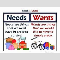 Needs And Wants Packet By Anna Navarre  Teachers Pay Teachers