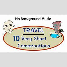 Travel English  10 Very Short Conversations English