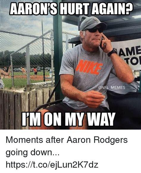 Aaron Meme Aaron S Hurt Again Ame Tor Nike Memes I M On My Way