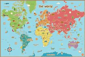 37 Eye-Catching World Map Posters You Should Hang On Your