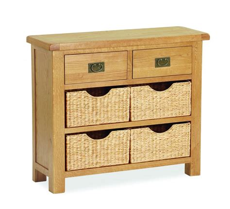 Sideboards With Baskets by Sawrey Oak 2 Drawer 4 Basket Sideboard Cumbria Oak