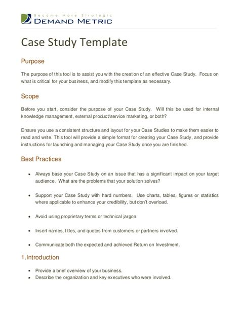 case study template doliquid
