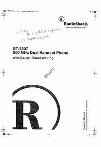 Radio Shack 4303507 900mhz Analog Modulation Cordless