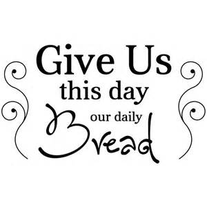 Red And Beige Kitchen by Give Us This Day Our Daily Bread Wall Decal Kitchen Wall