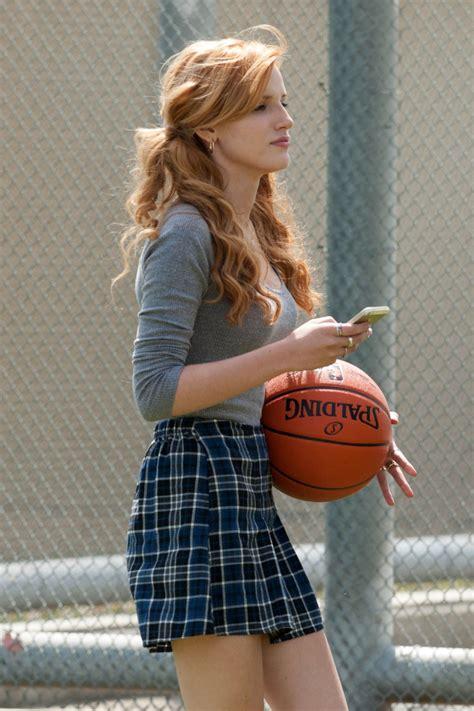 bella thorne plays basketball   break   set