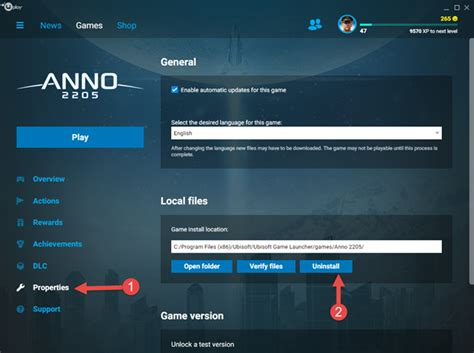 Install / Uninstall / Verify A Game In Uplay?