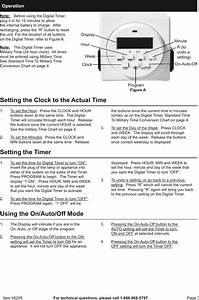 Manual For The 95205 Digital Timer