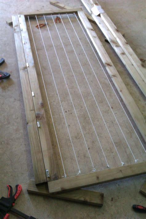 fabriquer un etendoir a linge exterieur en bois myqto