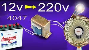 How To Make Inverter 12v To 220v  Simple Circuit Diagram