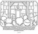 Coloring Pages Bible Ecclesiastes Paul Sheets Preacher Solomon King Athens Sunday Wise Temple Rebuilding Peter Activity Whatsinthebible Acts Word Children sketch template