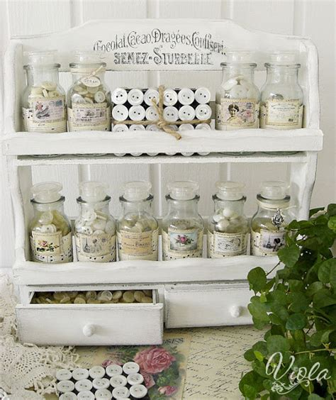 shabby chic spice rack vintage inspired vintage spice rack for button storage