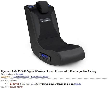 pyramat wireless gaming chair deal of the day 269 99 pyramat pm450 wr digital wireless