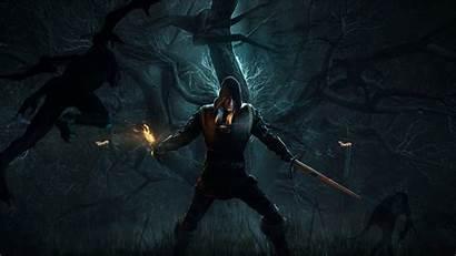 Witcher Hunt Forest Wild Geralt 4k Alone