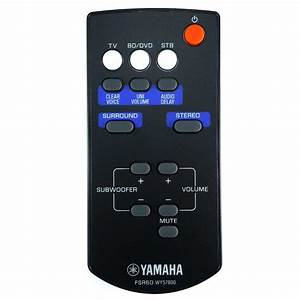 New Genuine Yamaha Fsr60 Wy57800 Sound Bar Remote Control