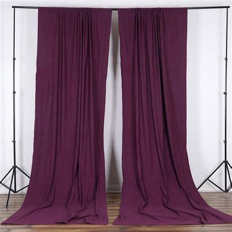 set   eggplant fire retardant polyester curtain panel