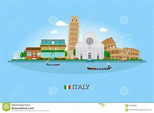 Vector Italy Skyline Stock Vector - Image: 56922969