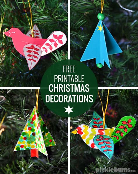 printable christmas decorations dove  tree