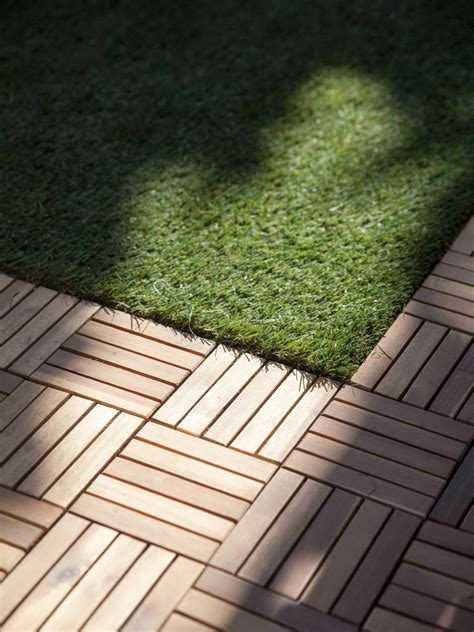 wood deck tiles  grass home design ideas