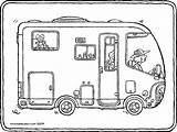 Camper Van Colouring Kiddicolour Drawing Receiver Mail sketch template